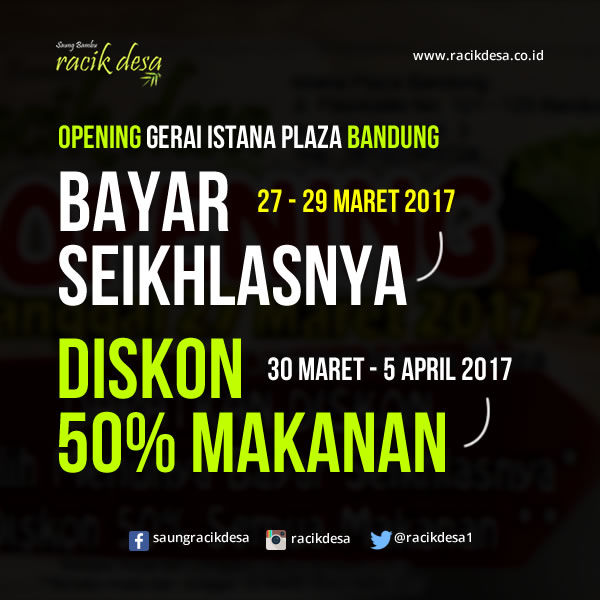 Opening Racik Desa Istana Plaza Bandung